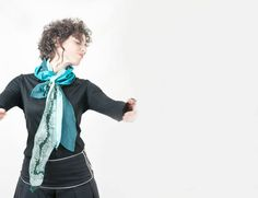 Scarf Turquoise Eco Freindly OOAK Gift by studiolana on Etsy, $30.00