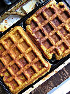 sweetsugarbean: Pumpkin Whole Grain Waffles with Maple Greek Yogurt