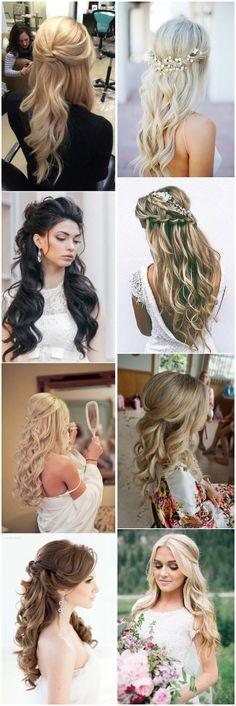 20 Half Up Half Down Wedding Hairstyles Anyone Would Love #weddings #weddinghairstyles #hairtyles