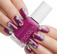 nail art essie flowerista