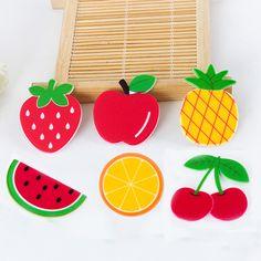 50pcs Mixed Cartoon Fresh Fruit Resina Cherry Apple Lemon Resin Flatback DIY Planar Resin Craft for Home Decoration Accessories
