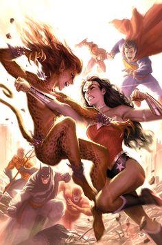 Cheetah vs Wonder Woman and Co.