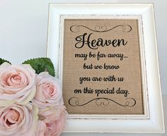 Wedding Memory Table Sign Memorial Table Sign Wedding