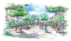 Landscape Architecture Drawing, Drawings, Plants, Entourage, Beautiful, Sketches, Plant, Drawing, Portrait