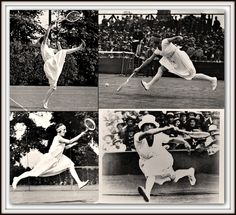 """La Divine"" – French Tennis Legend Suzanne Lenglen It wasn't just her incredible athleticism that made Lenglen stand out. While other women were playing in corsets, starched collars and ties, Lenglen hired fashion designed Jean Patou to come up with a sleeveless, loose dress she could play in that hit just below her knees"