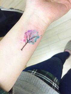 Watercolor Tree by Banul