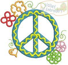 {FSL- Peace Sign w Flowers & a Heart- DES02freebie K.H.}  DES02freebie