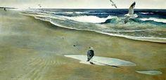 Andrew Wyeth - On the Beach (1946)