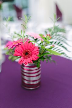 Tin Can Flowers Relaxed Back Garden Wedding http://bethmoseleyphotography.co.uk/