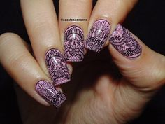 $0.99 1 Sheet Arabesque Leaves Nail Art Water Decals Transfer Sticker A641/A642/A643/A644 - BornPrettyStore.com