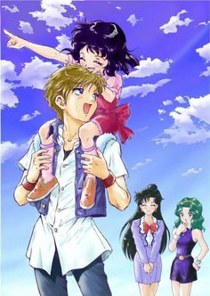 Outer sensi family... what i always wanted... Haruka,  Michiru,  Setsuna, Hotaru