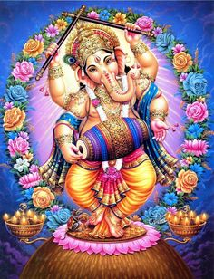 Lord Ganesha is one of the most popular Hindu deity. Here are top Lord Ganesha images, photos, HD wallpapers for your desktop and mobile devices. Pintura Ganesha, Arte Ganesha, Shri Ganesh, Krishna Hindu, Lord Krishna, Shiva Art, Shiva Shakti, Hindu Art, Ganesha Pictures