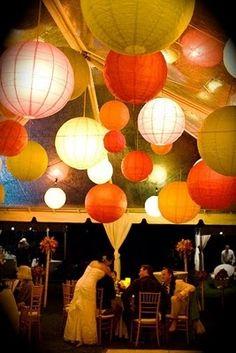 hanging Japanese lanterns loulu-palm-estate-wedding
