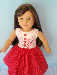 Welcome Grace Paris Couture American Girl Doll Party Dress 18 Inch Doll Clothes
