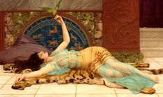 "John William Godward (British, 1861-1922), ""Dolce Far Niente"""