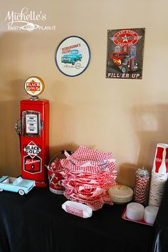 Retro 1950's Dad's Diner Father's Day Party Planning Ideas Decorations