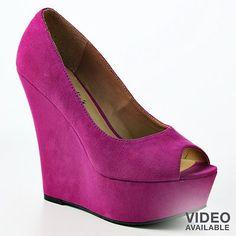 Purple wedges = enough said!! Love!