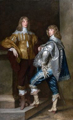 Antoine van Dyck  TitrePortrait of Lord John Stuart and his brother Lord Bernard Stuart (later Earl of Lichfield) Datevers 1638 Technique/matériauxhuile  National Gallery