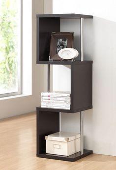 Lindy Dark Brown Modern Display Shelf (3-Tier)