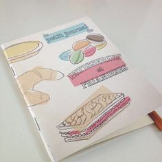 Little French Pastry Journal by GiantGnomepaperco on Etsy