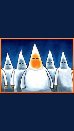 """""""If you're uncomfortable talking about racism, while it's still OBVIOUSLY a big problem in America, take off your Klan hood and be recognized. Political Art, Political Cartoons, Image Halloween, Jon Voight, Trump Cartoons, Good Morning Funny, Dumb And Dumber, Donald Trump, Funny Pictures"""