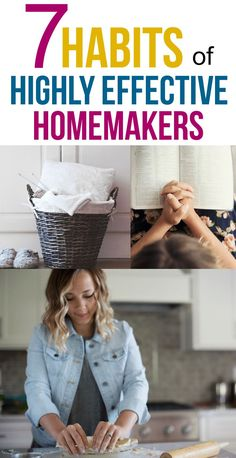 Habits of Highly Effective Homemakers I love the advice in this post for becoming a successful homemaker! via love the advice in this post for becoming a successful homemaker! Christian Homemaking, Home Management, Homekeeping, Home Organization, Organizing Life, Organising, Organizing Ideas, 7 Habits, Working Moms