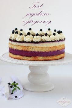 Tort jagodowo-cytrynowy / Lemon Berry Cake Recipe