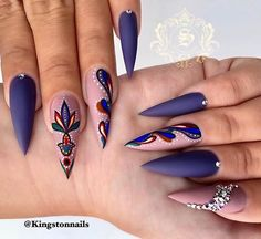 30 große Stiletto Nail Art Design-Ideen 1 # Stilettonail – Diy Stiletto Nails, You can collect images you discovered organize them, add your own ideas to your collections and share with other people. Stiletto Nail Art, Cute Acrylic Nails, Summer Stiletto Nails, Stiletto Nail Designs, Summer Toenails, Nail Nail, Nail Art Designs, Pedicure Designs, Perfect Nails