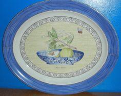 New NIB Wedgwood Sarah's Garden Queen's Ware Platter Pyrus Malus in Blue Sarah's Garden, Pyrus, Wedgwood, Platter, Sd, Queens, Decorative Plates, Miniatures, Printables