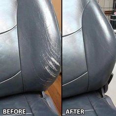 Leather Repair Cream : Is your sofa looking a little worn down? Is your car upholstery beat and torn? This handy and easy to use Leather Repair Cream will repairs cracks, cuts, burns, and tears on ANY leather & vinyl surfaces. Get it today for OFF! Car Cleaning Hacks, House Cleaning Tips, Kitchen Cleaning, Glass Cleaning, Cleaning Checklist, Garniture Automobile, Renovation Cuir, Cream Car, Leather Restoration