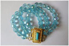 Silvia Jewellery of Style: Bracciale donna 3 file azzurro
