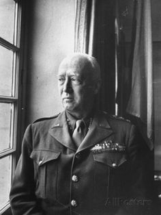 general george patton prints   Army General George Patton Gazing Thoughfully Out of Window ...