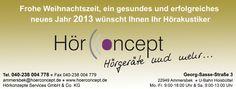 Wir wünschen Ihnen ein frohes Fest.  www.hoerconcept.de
