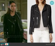 Ciara's suede fringed moto jacket on Days of our Lives.  Outfit Details: http://wornontv.net/54667/ #DaysofourLives