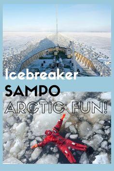 An Arctic cruise aboard Icebreaker Sampo in Kemi, Finland! Would you swim in the frozen sea?