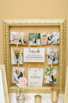 instagram sign wedding photo display ideas