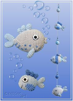 Ravelry: Frische Fische pattern by Kristinas Art  Häkel Anleitung auf Deutsch