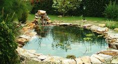 20 mesébe illő, csodálatosan szép kerti tó, ami neked is tetszeni fog! Back Garden Landscaping, Garden Pond, Water Garden, Small Back Gardens, Backyard Ideas For Small Yards, Backyard Designs, Small Waterfall, Garden Items, Dream Garden
