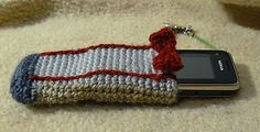 Crochet - Dr. Who - Eleventh Dr. Who phone cozy - Medium Worsted Weight [4] Yarn - NOTE: Down loadable Knit /version also.