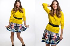 Adorable floral skirt and three-quarter sleeve top. Get inspired by Younger style. Watch Sutton Foster in latest episode at http://www.tvland.com/shows/younger.
