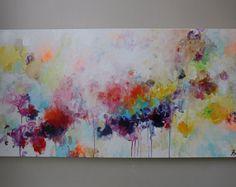 Resumen ORIGINAL pintura de arte abstracto paisaje por artbyoak1