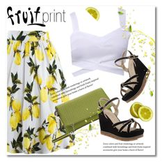 """""""Fruit print"""" by svijetlana ❤ liked on Polyvore featuring polyvoreeditorial and fruitprint"""