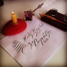Felicidades!!! Les envió un abrazo y toda la buena vibra!!! Saludos!!!  #merrychistmas #newyear2014 #mexico #calligraphy #handmadeletters #loveletters #letters #ink #cool