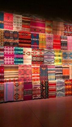 Chihuly Museum, Pendleton Blanket display.
