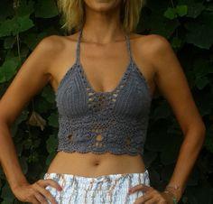 CROCHET TOP/ Crochet Crop Top/Crochet bikini F R por Julieteinlove