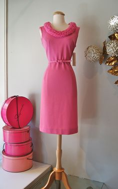 1960's Pink Poodle Dress, by Edith Flagg.  Xtabay
