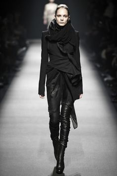 Haider Ackermann FW 08 - Multi-textured layering in black never goes out of style and always looks badass.