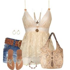 A fashion look from August 2014 featuring beige cami, short denim shorts and leather sole shoes. Browse and shop related looks. Cute Summer Outfits, Short Outfits, Cool Outfits, Casual Outfits, Fashion Outfits, Womens Fashion, Fashion Trends, I Love Fashion, Fashion Looks