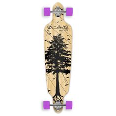 Amazon.com : In The Pines NATURAL Longboard Complete Skateboard - available in All shapes (Drop through) : Sports & Outdoors