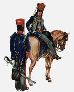 15th The King's Hussars - Officer and Private, 1815